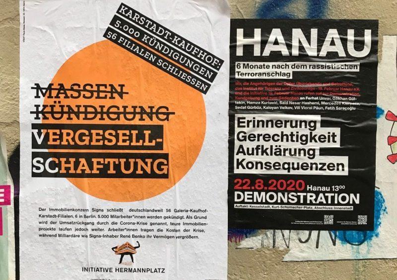 Ein Statement diverser Initiativen und Aufruf zur Kundgebung am 2.9. am Hermannplatz